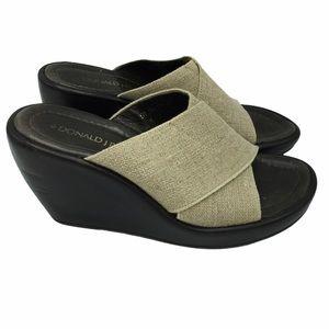 Donald J. Pliner Reyna Wedge Sandals Size 6